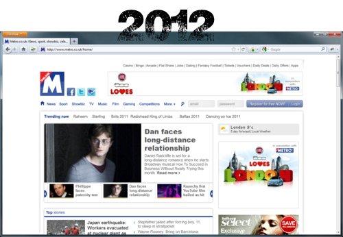 Metro.co.uk in 2012
