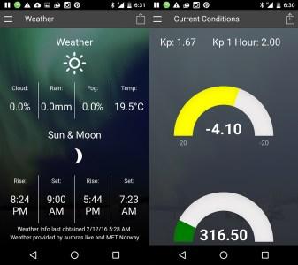 Auroras.live mobile app (alpha version)