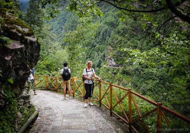 Walking path Mt Cangshan Dali