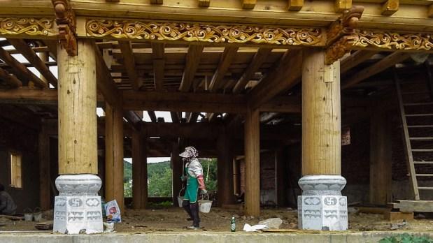 Rebuilding in old town Shangrila