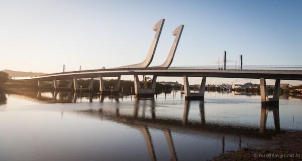 Whangarei bascule bridge over Hatea river