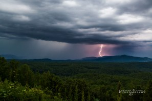 Lightening Strikes the Mountain Top