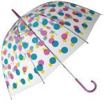 Pod transparentním deštníkem s puntíky vám den nepřijde smutný.