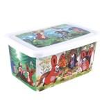 PLASTOVÉ BOXY Krteček spolykají nepořádek i hračky o objemu 8 a 26 litrů.
