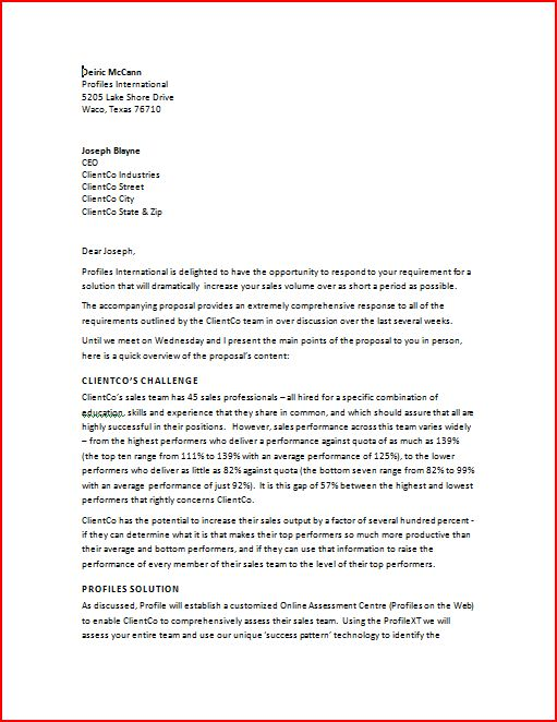 Business Proposal Template U2013 Free Business Proposal Sample  Formal Proposal Example