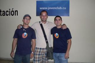 Elav con chicos de Firefoxmanía (Foto 2)