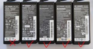 Tips Cara Membedakan Adaptor Charger Laptop Original dan KW