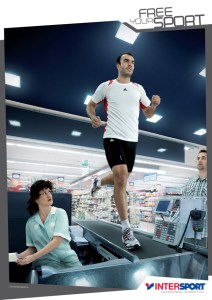 Publicité Intersport - Course à pied