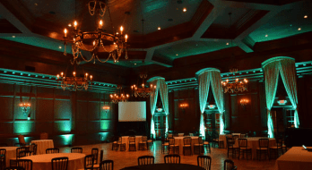 Green wedding uplights