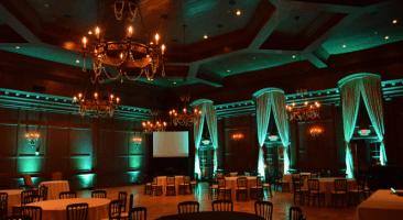 Green wedding uplights