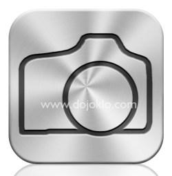 apple icloud icon button dslr tutorial aluminum metal metallic iphoto icamera camera photo