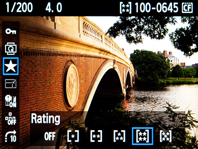 Canon 7D eos firmware 2 2.0 update quick control rating q screen