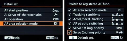 Canon 7D Mark II AF autofocus case customize button control tips tricks setting set up
