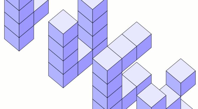 Empilements de cubes sous TikZ