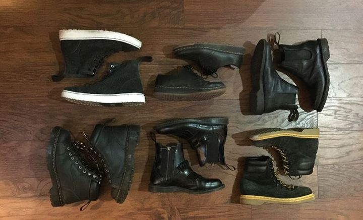 Renee's Dr. martens collection.