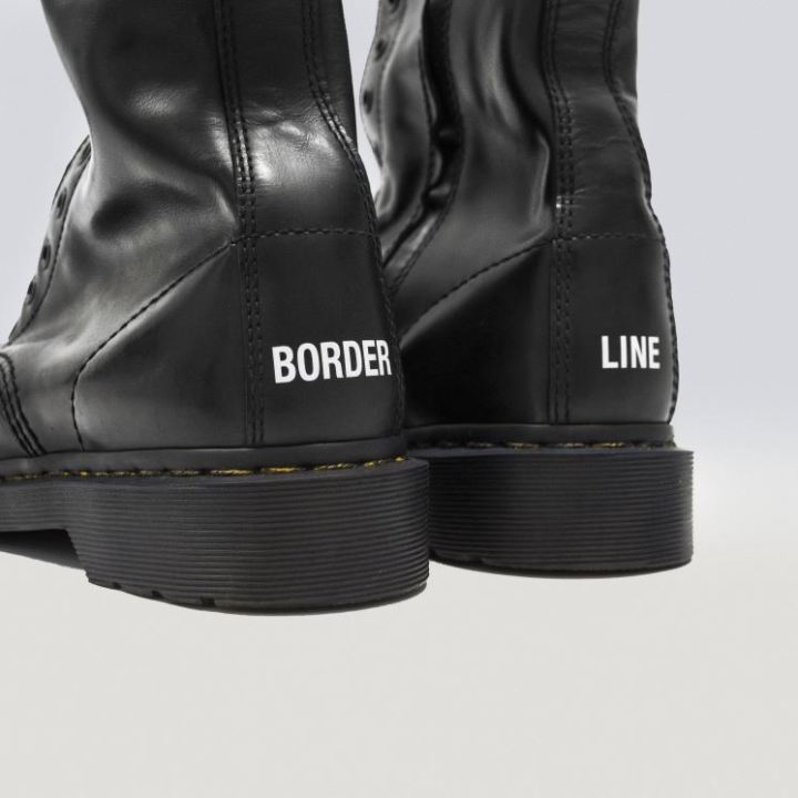 The Dr. Martens x Vetements 1490 boots.