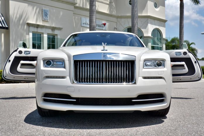 Rare rolls royce wraith in carrara white for sale for Rolls royce motor cars tampa bay