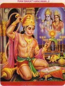 hanumaan meditates on rama and sita