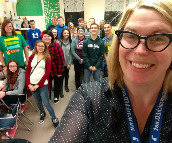 Jennifer Ward, a high school English teacher in Michigan, started a teen literary magazine with her students.