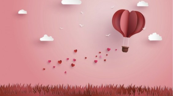 origami-made-hot-air-balloon-and-cloud-vector-id637296214