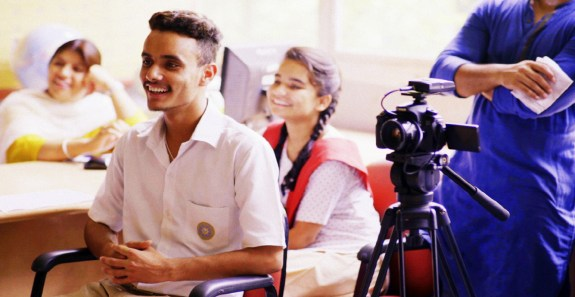 Through the project, students get to learn many skills — they become interviewers, directors, cinematographers and designers.