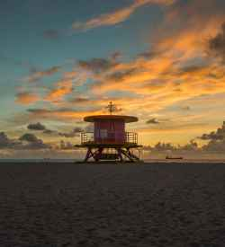 Daily Photo-Miami Beach Sunset - image  on http://blog.edinchavez.com
