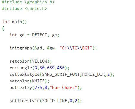 3d bar chart program in c