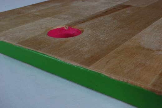 diy color edge cutting board