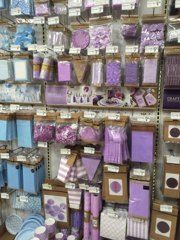 pale purple party supplies