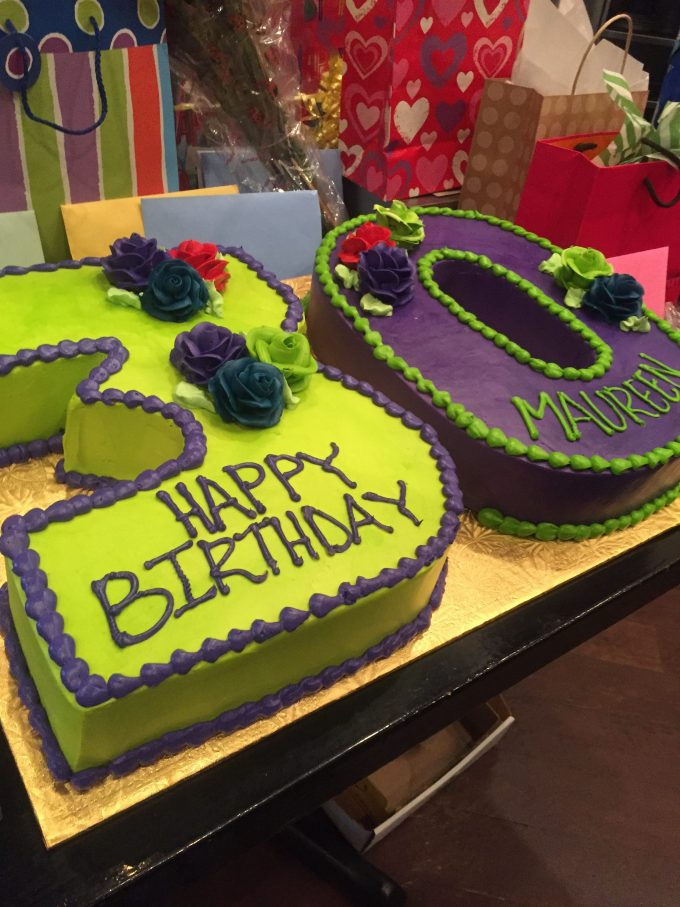 Colorful 30th birthday cake