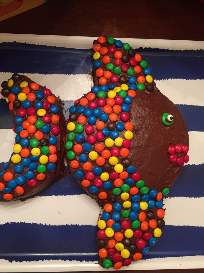 fish cake with m&m