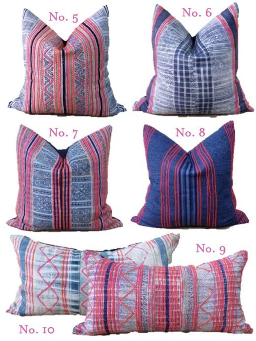 vintage tribal hemp pillows