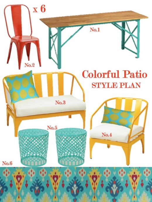 colorful patio style plan