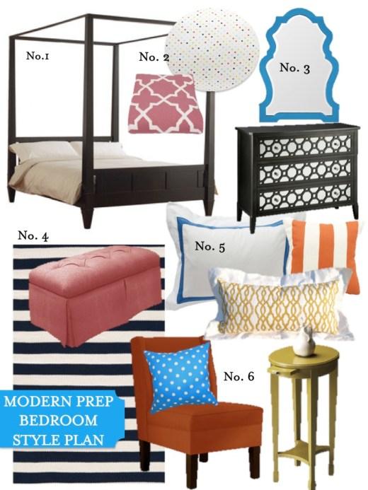 modern prep bedroom