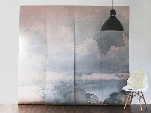 cloudedwallmural