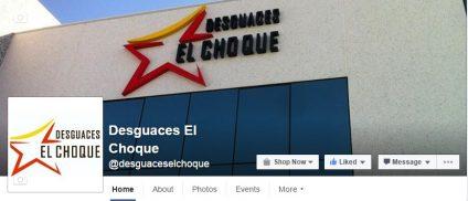 Desguaces El Choque en Facebook y Twitter
