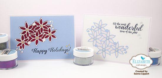 Silk Microfine Glitter Christmas cards