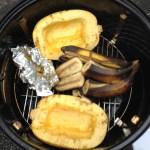 Squash, squash seeds, bananas
