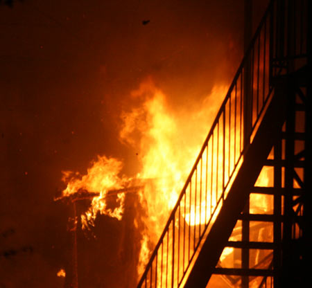 Fire at 370 Crémazie Blvd. W.