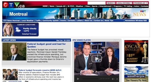 The new Pulse ... err, CFCF ... err, CTV Montreal website