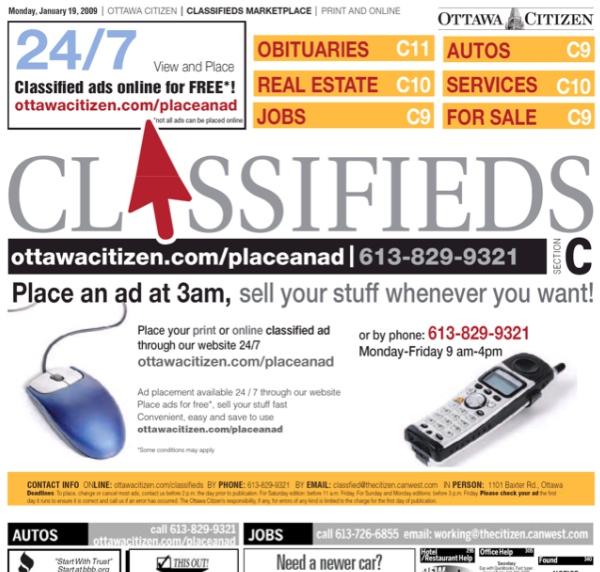 Ottawa Citizen  Classifieds