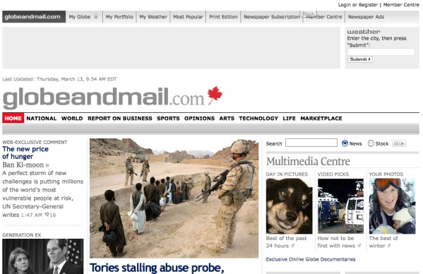 The old globeandmail.com