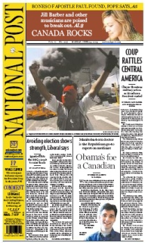 The online-only National Post for Monday, June 29, 2009