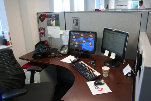 Jamie Orchard's newsroom desk
