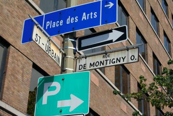 Rue de Montigny Ouest has no eastern counterpart