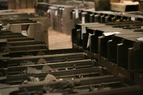 Old metro turnstiles