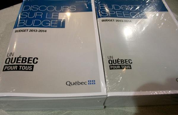 "Budget packages. Notice the ""Un Québec pour tous"" is smaller on the English version"