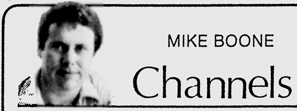 Mike Boone columnist logo in 1980