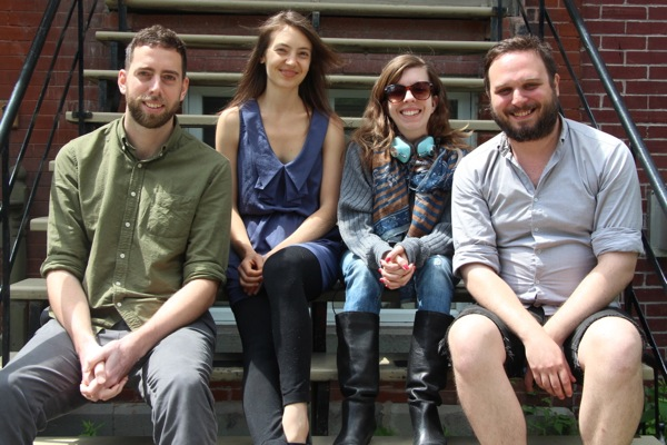 The Midnight Poutine podcast crew, from left: Theo Mathien, Amie Watson, Gabrielle LeFort, Gregory Bouchard
