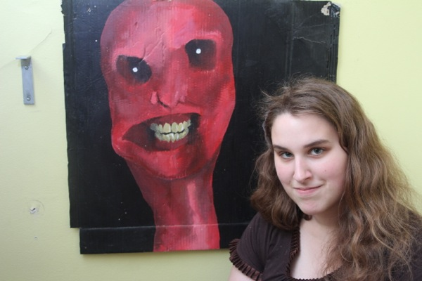 A creepy painting in Abby Howard's room has inspired a short film that's being offered as a reward in the KickStarter campaign